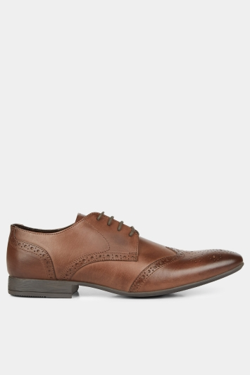 Moss London Lucan Brown Brogue Shoe