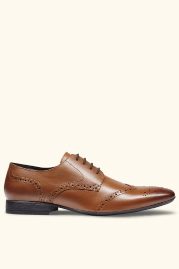 Moss London Lucan Tan Smart Brogue