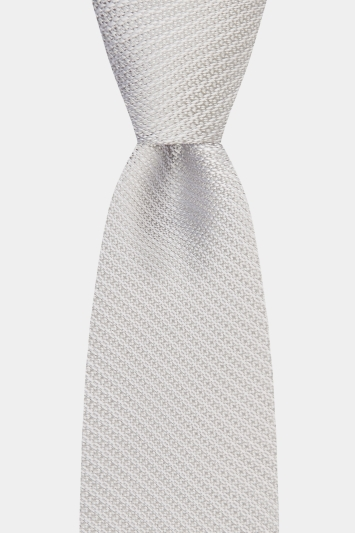 Moss 1851 Silver Knit Texture Tie