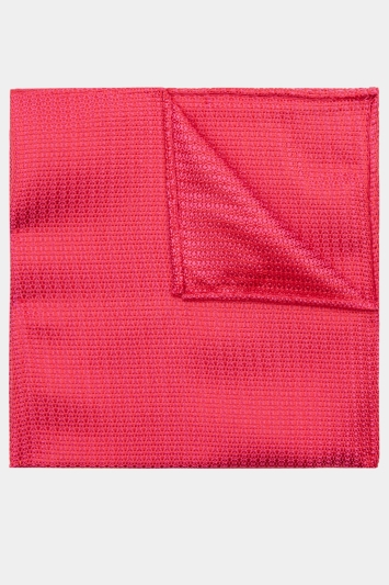 Moss 1851 Fuchsia Knit Texture Pocket Square