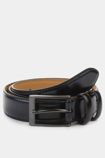 Moss 1851 Dark Navy Leather Belt