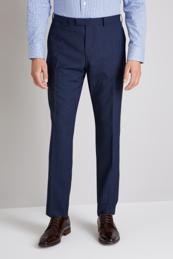 Ermenegildo Zegna Cloth Tailored Fit Blue Prince of Wales Check Trouser