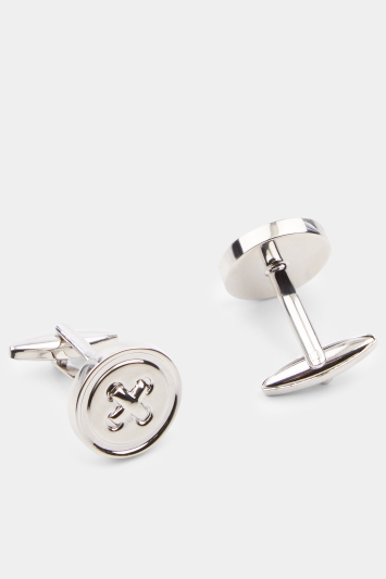 Moss 1851 Silver Button Cufflinks