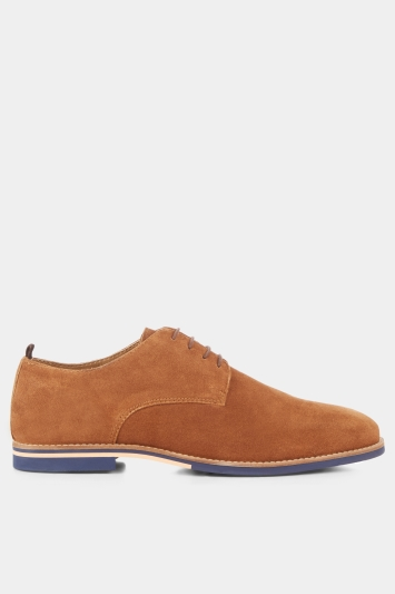 Moss London Stan Suede Derby Tan