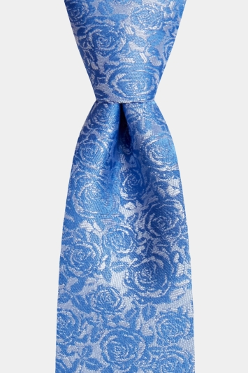 Moss London Silver With Blue Rose Tie