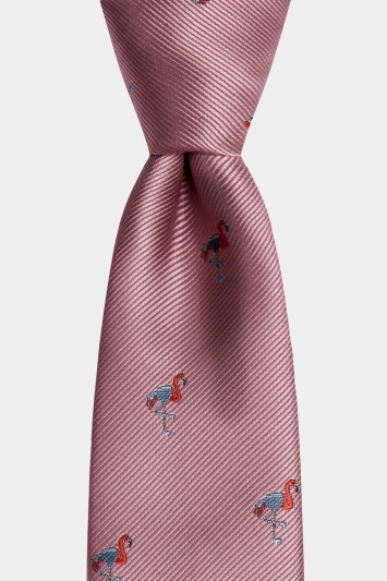 Moss London Pink Flamingo Tie