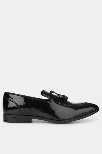 Moss London Foley Black Patent Loafer