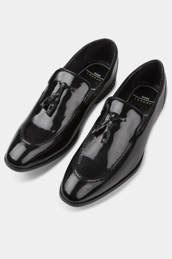 535a185a171a5 Moss London Foley Black Patent Loafer