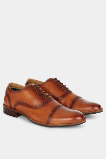 Moss London Horton Two Tone Tan Brogue
