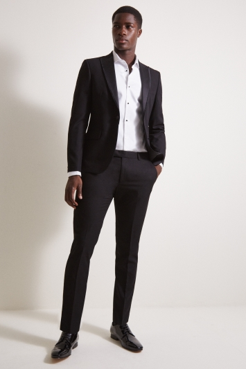 Moss London Skinny Fit Black Dress Jacket