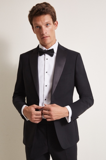 Moss 1851 Tailored Fit Black Notch Dress Jacket