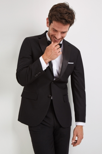 Moss Esq. Regular Fit Black Notch Dress Jacket