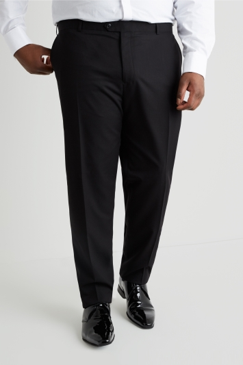 Moss Esq. Regular Fit Black Dress Trousers