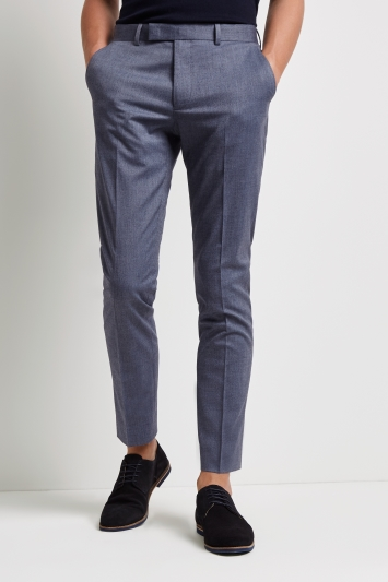 Moss London Skinny Fit Unstructured Graphite Blue Jacket
