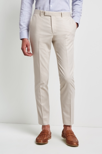 Moss London Skinny Fit Unstructured Ice Latte Trousers
