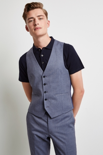 2a77e3d69bb2ad Moss London Skinny Fit Unstructured Graphite Waistcoat