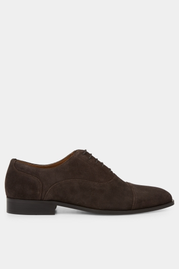 Hardy Amies Chocolate Suede Toe Cap Shoe