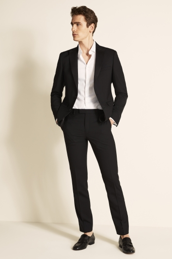 DKNY Slim Fit Plain Black Jacket