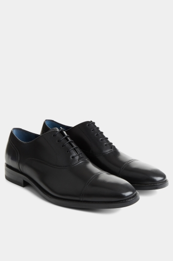 Moss 1851 Datchworth Black Toe Cap Oxford Shoe