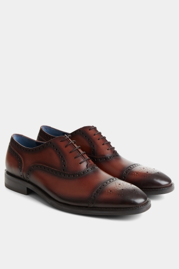 Moss 1851 Weston Conker-Brown Brogued Oxford