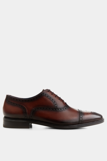 Moss 1851 Weston Conker-Brown Brogued Oxford Shoe