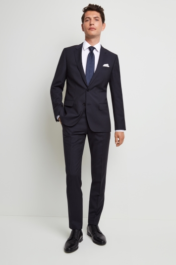 HUGO by Hugo Boss Tailored Fit Navy Pinstripe Jacket