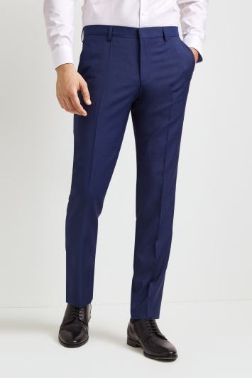 63809e8a1 HUGO by Hugo Boss Tailored Fit Plain Bright Blue Trousers