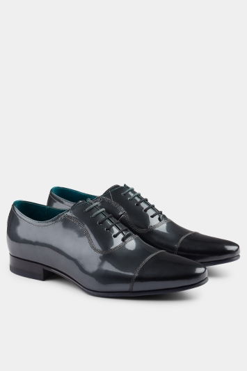 Ted Baker Sharney Silver Patent Toe Cap Oxford
