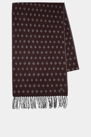 Ted Baker Lifton Burgundy Double Face Scarf