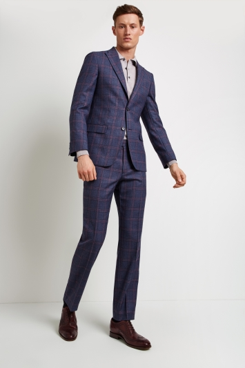 Ted Baker Tailored Fit Blue with Pink Check Jacket