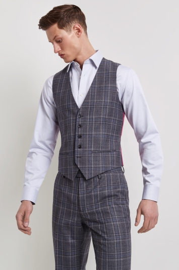 f9b7b107cf00c 15% Student Discount · Home  Suits and Tailoring  Ted Baker Tailored Fit  Grey with Blue Check ...
