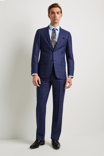 e2256394be68 Ted Baker Tailored Fit Blue Overcheck Jacket