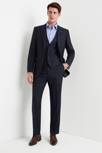 Ted Baker Gold Tailored Fit Airforce Blue Sharkskin Jacket