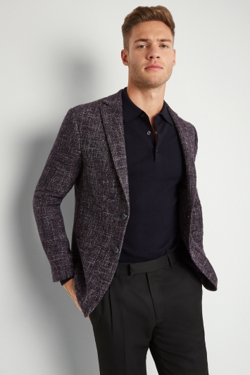 Moss London Skinny Fit Midnight Speckled Jacket