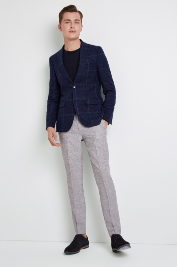 af15a02439 Moss London Skinny Fit Blue Check Jacket