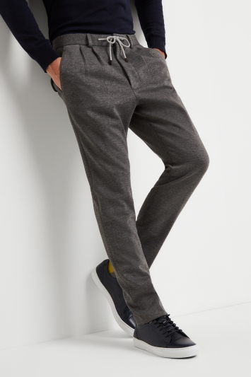 Moss London Skinny Fit Grey Slouch Trousers
