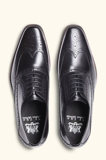 John White Hercules Black Brogue