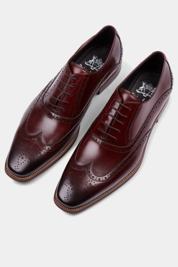 John White Hercules Burgundy Brogue Shoe