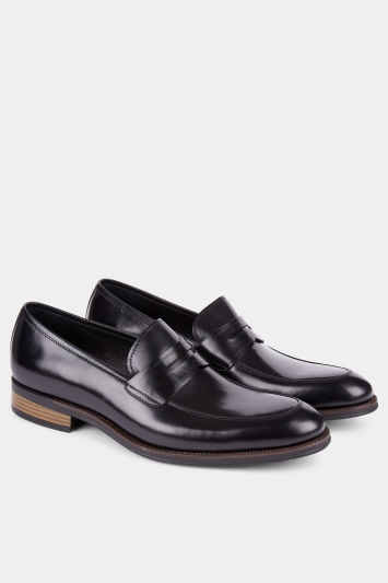 John White Mill Black Penny Loafer