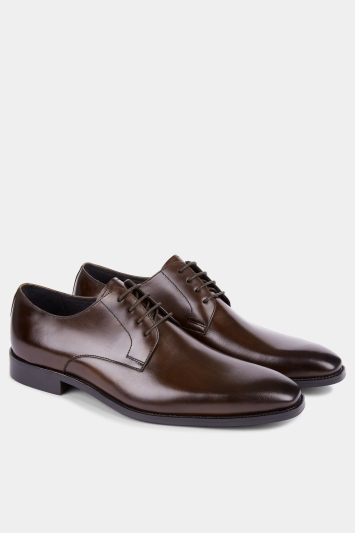 John White Vine Brown Textured Derby