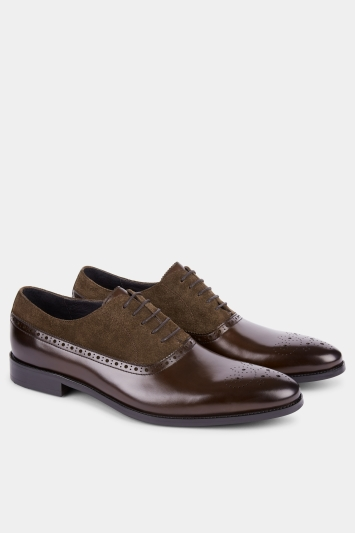 John White Wolfe Chocolate Contrast Oxford