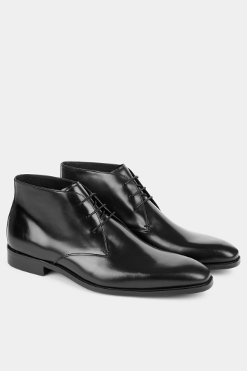 John White Priest Black Chukka Boot