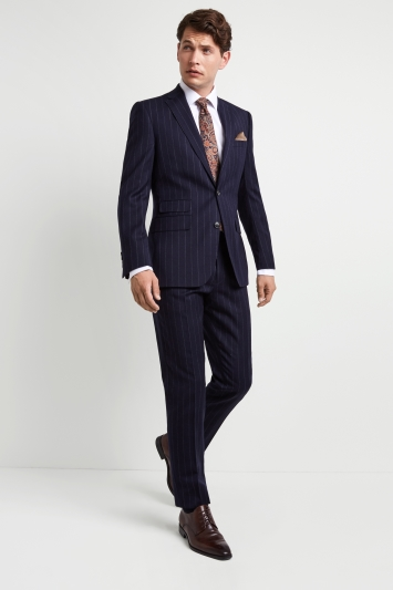 Professional Sale Mans yvessaintlaurent Dark Blue Pure New Wool Suit Size 42 Regular. Men's Clothing