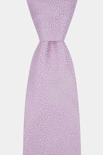 Moss 1851 Made in England Pink Leaf Tie