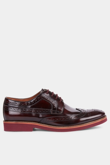 Moss London Foxley Burgundy EVA Sole Derby Shoe