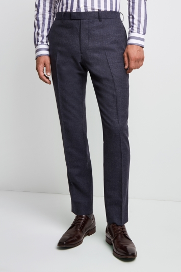Lanificio F.lli Cerruti Dal 1881 Cloth Tailored Fit Mid Blue Texture Milled iTravel Trouser