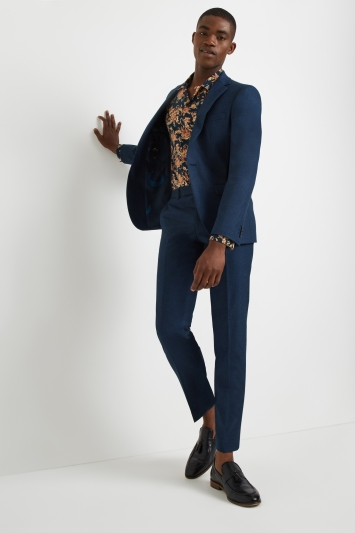 Moss London Skinny Fit Teal Jacket