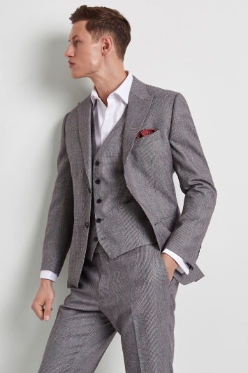 Lanificio F.lli Cerruti Dal 1881 Tailored Fit Black & White with Red Check Jacket