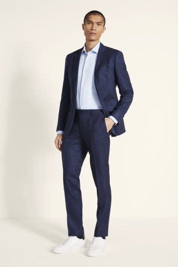 Moss London Skinny Fit Blue Twisted Jacket
