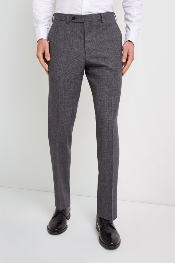 606a90fb85cad Ermenegildo Zegna Cloth Tailored Fit Grey with Red Check Trousers